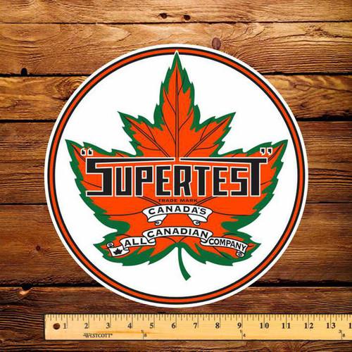 """Supertest Leaf Gasoline 12"""" Pump Decal"""