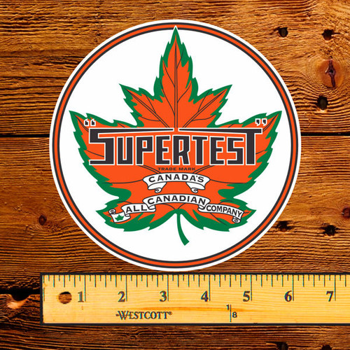 Supertest Products Gas Pump Decal