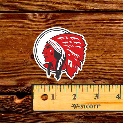 Red Indian Motor Oil Bottle Decal