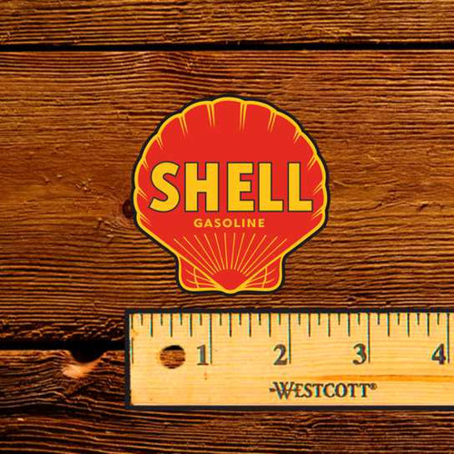 "Shell Motor Oil - 2.5"" Oil Bottle Decal"