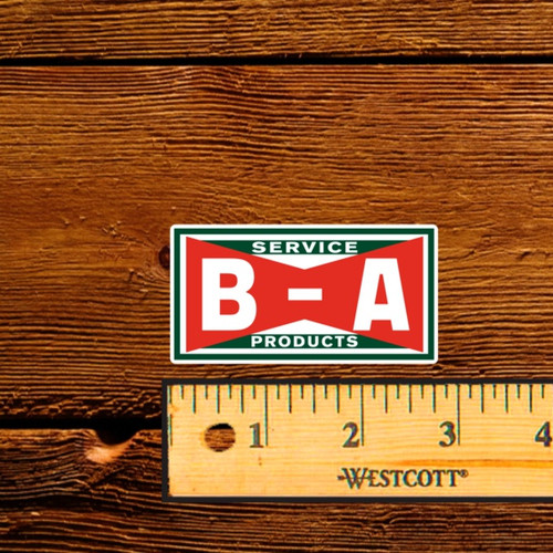 """BA Bowtie Service Products - 2.5"""" Oil Bottle Decal"""