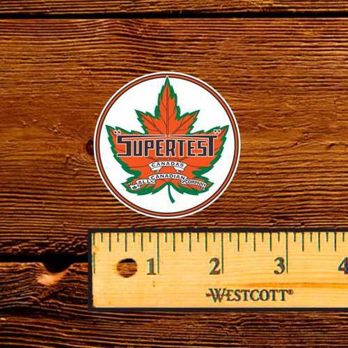 """Supertest Leaf - 2.5"""" Oil Bottle Decal"""