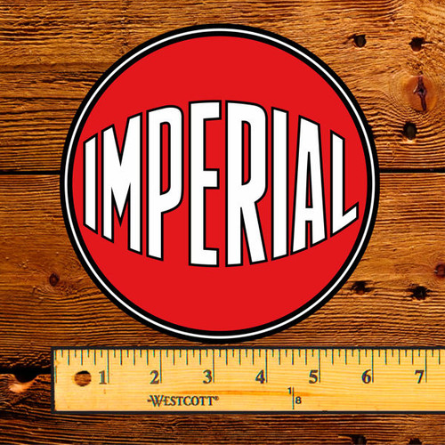 """Esso Imperial Red Ball 6"""" Lubester Decal"""