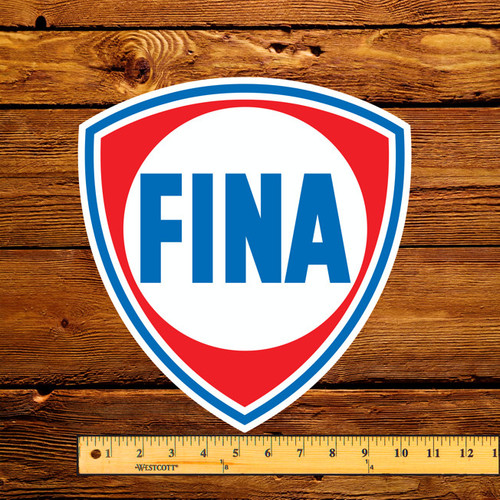 "FINA Gas 12"" Gas Pump Decal"