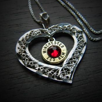 My Open Heart Bullet Necklace