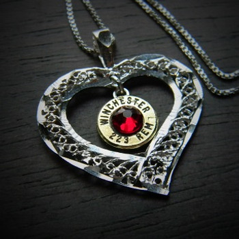 My Open Heart Bullet Necklace