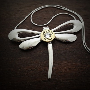 Dragonfly Bullet Necklace