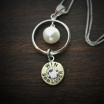 Ring of Pearl Bullet Necklace