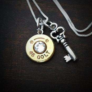 Key Charm Bullet Necklace