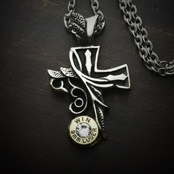 Divine Cross Bullet Necklace