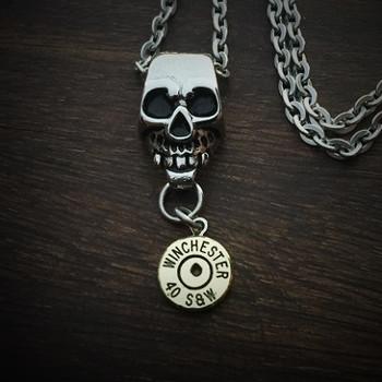 Skull Bullet Necklace