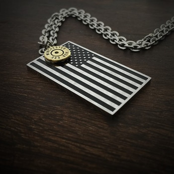 American Flag Bullet Necklace 169