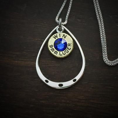Teardrop Bullet Necklace