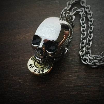 Bite the Bullet Necklace .40 Biting