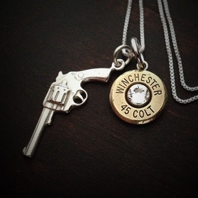 Gun bullet necklace jectz revolver bullet necklace aloadofball Images
