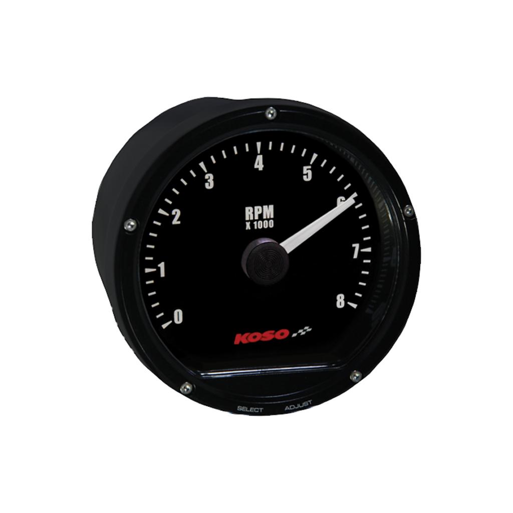Koso Mini Tachometer - Black