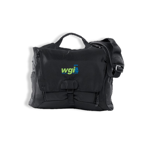 WGI Embroidered Black Messenger Bag - Online Exclusive*