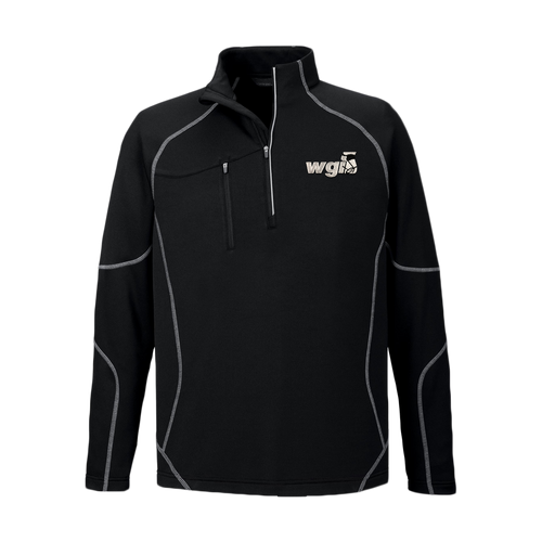 WGI Embroidered Black 1/4 Zip Jacket - Online Exclusive*