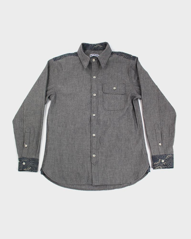 Long Sleeve Button-Up, Katazome Nami