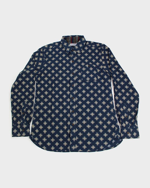 Long Sleeve Button-Up, Kasuri