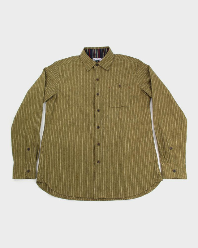 Long Sleeve Button-Up, Sashiko