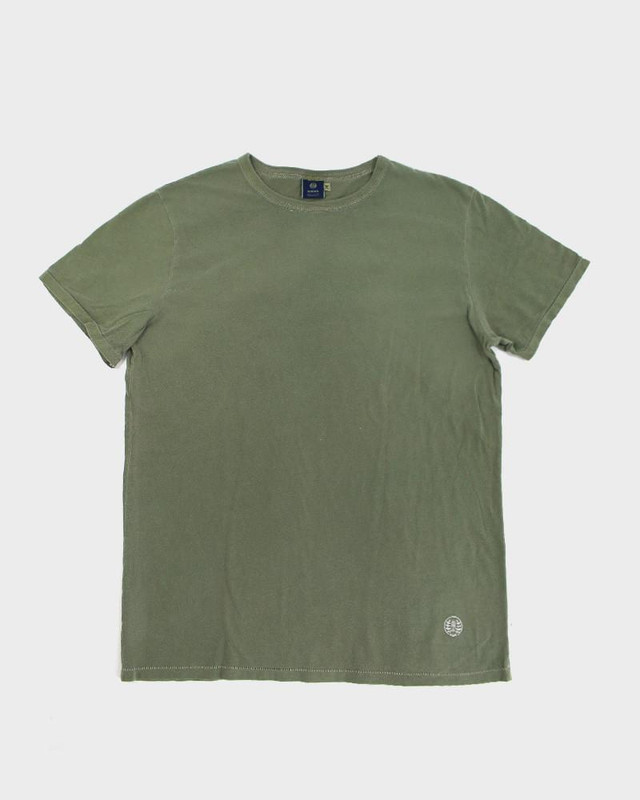 Embroidered Logo Tee, Olive