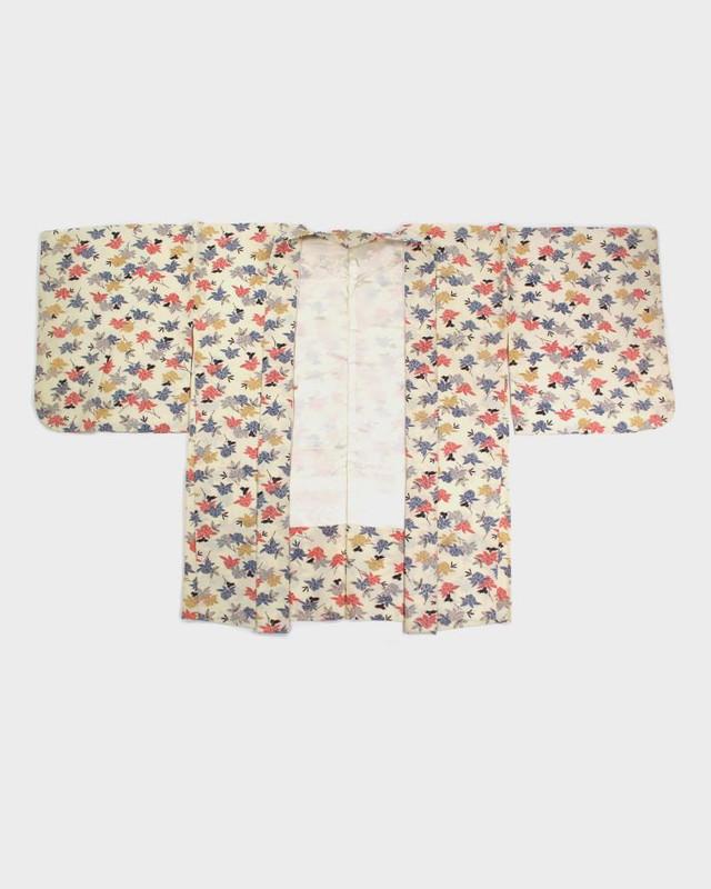 Vintage Kimono Haori Jacket, Vanilla Floral