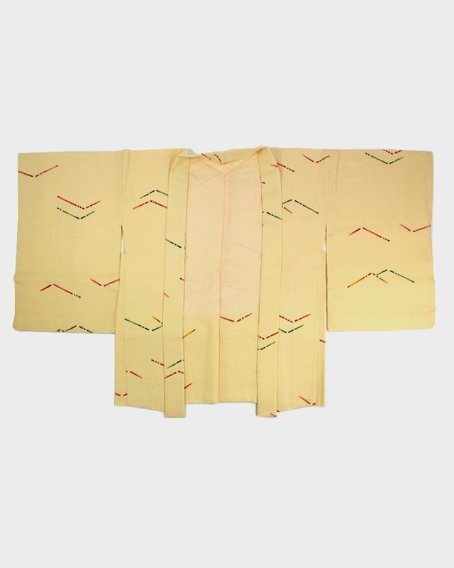 Vintage Kimono Haori Jacket, Colorful Lines