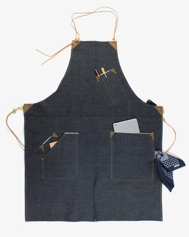 Japanese Selvedge Denim Work Apron, Indigo