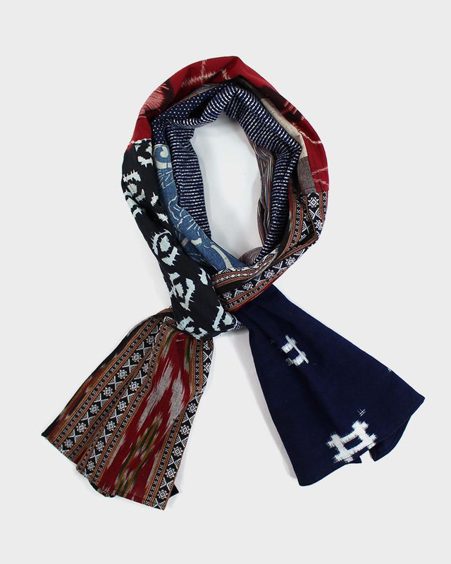 Patchwork Scarf, Native Pattern and Igeta