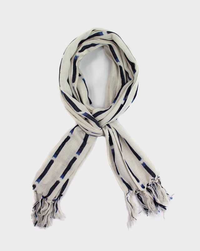 Karu-Ori Scarf, White and Blue Large Dash