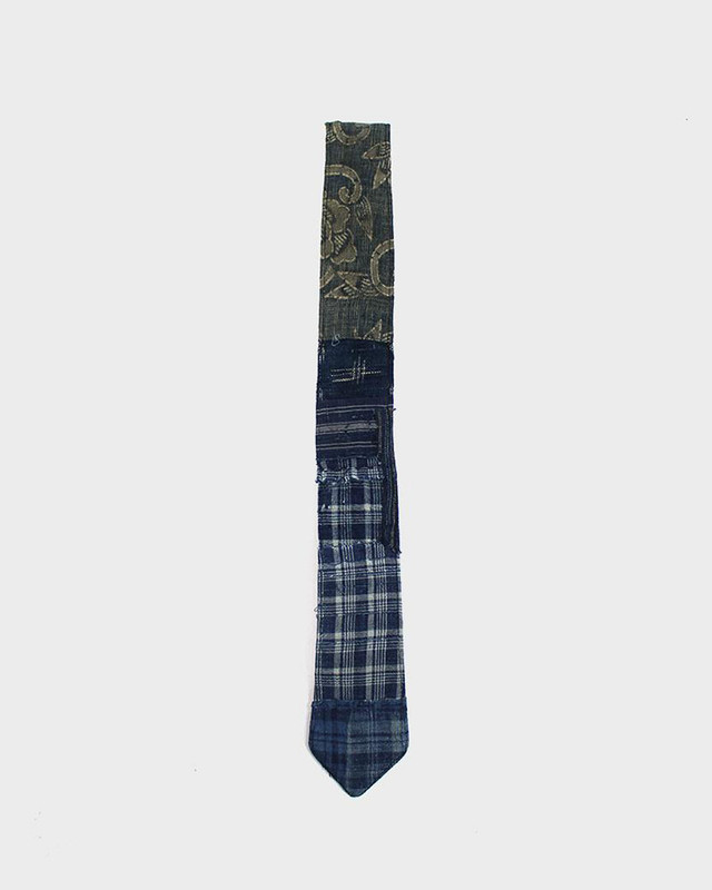 One of a Kind Boro Tie, Indigo