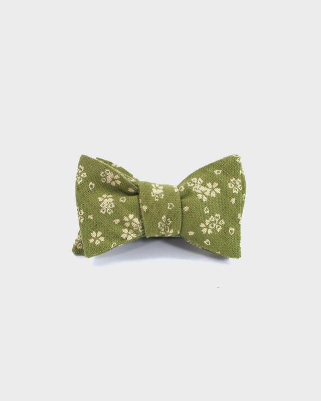 Bow Tie, Yellow Green Sakura