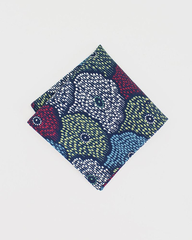 Pocket Square, Kimono Colorful Floral