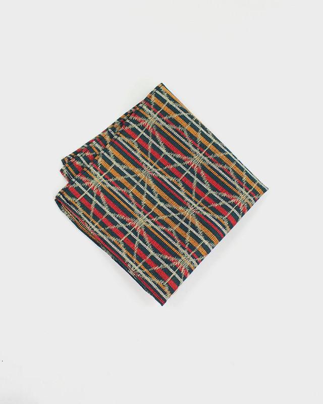 Pocket Square, Kimono Striped Asanoha