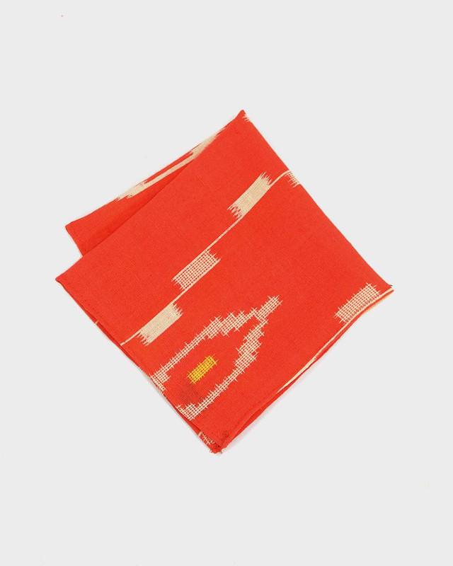 Pocket Square, Kimono Orange Kasuri