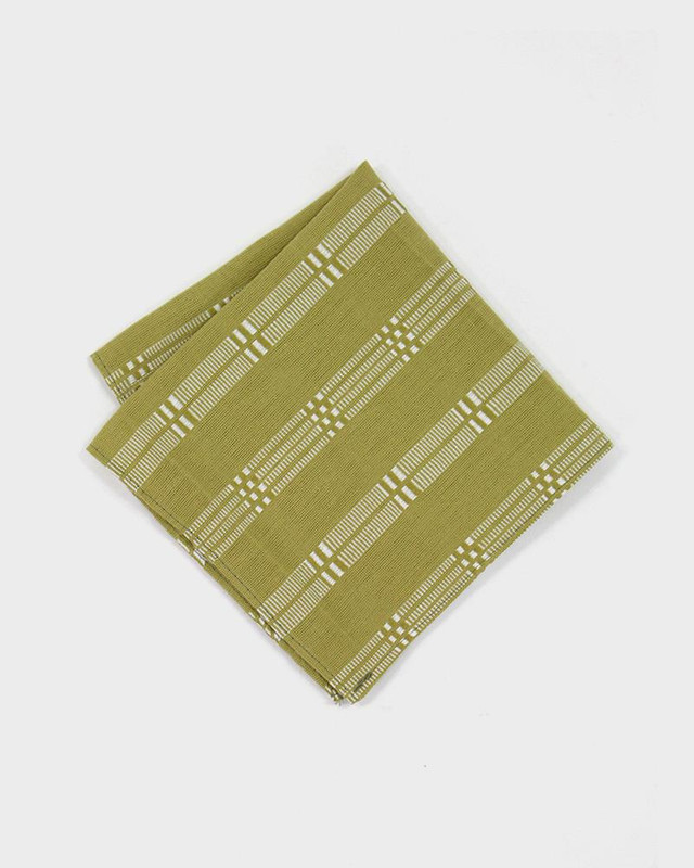 Pocket Square, Lime Shuri-Ori