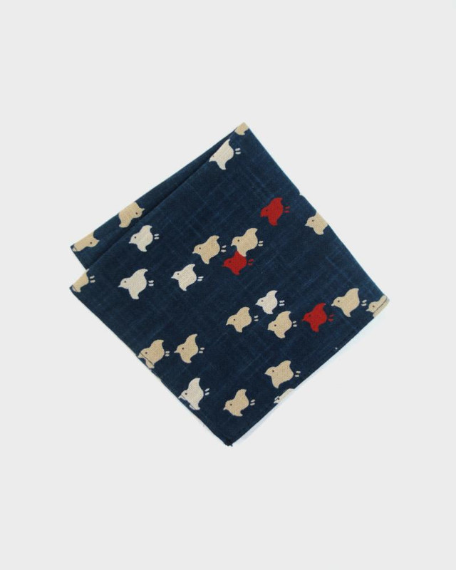 Pocket Square, Indigo Chidori