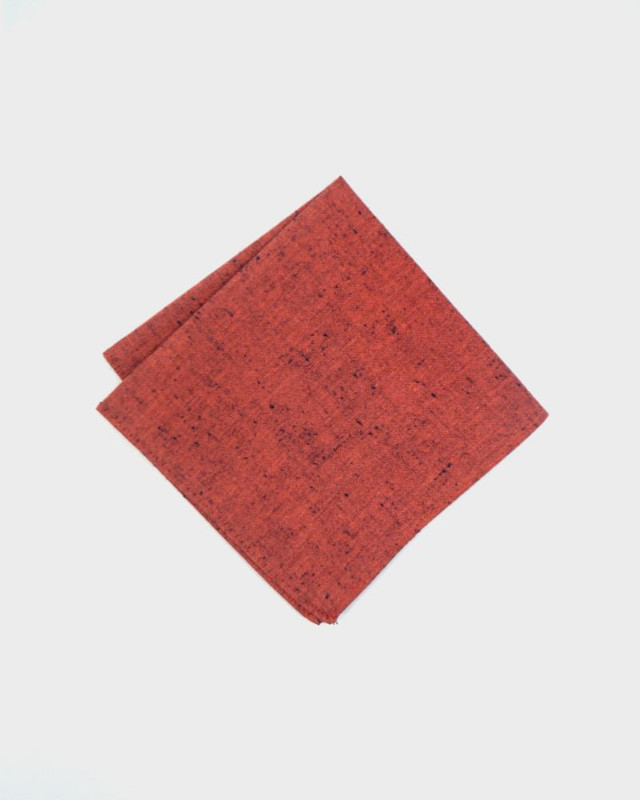 Pocket Square, Red Chambray