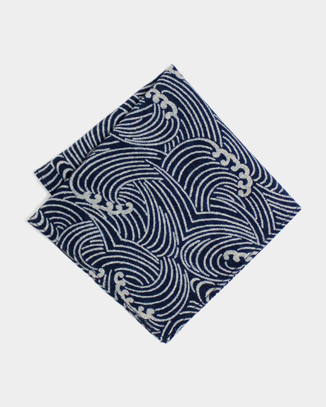 Pocket Square, Indigo Nami
