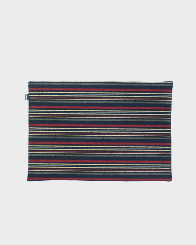 Table Mat x 4, Woven Stripe 02