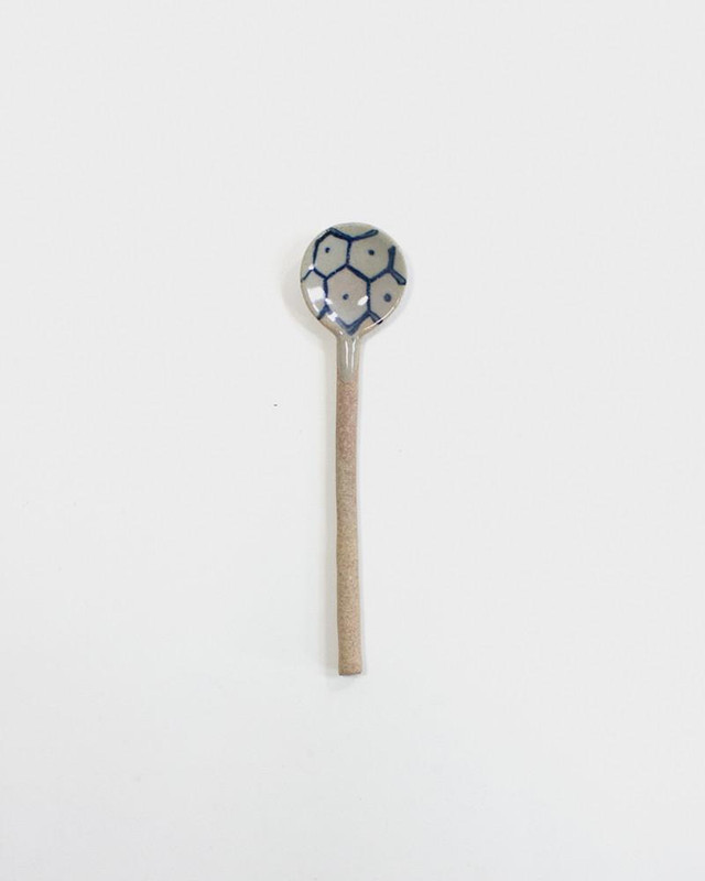 Mashiko-Yaki Hand-Painted Spoon, Kikkou