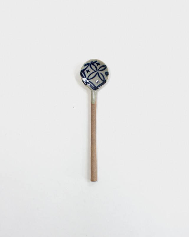 Mashiko-Yaki Hand-Painted Spoon, Shippou