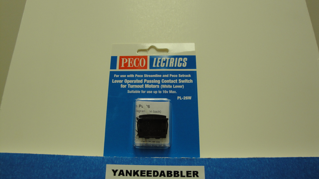 PL-26W Peco / PL-26W Passing Contact Toggle Switch for Twin Coil Switch Machines    White (SCALE=ALL ) Part # PCO-PL-26W