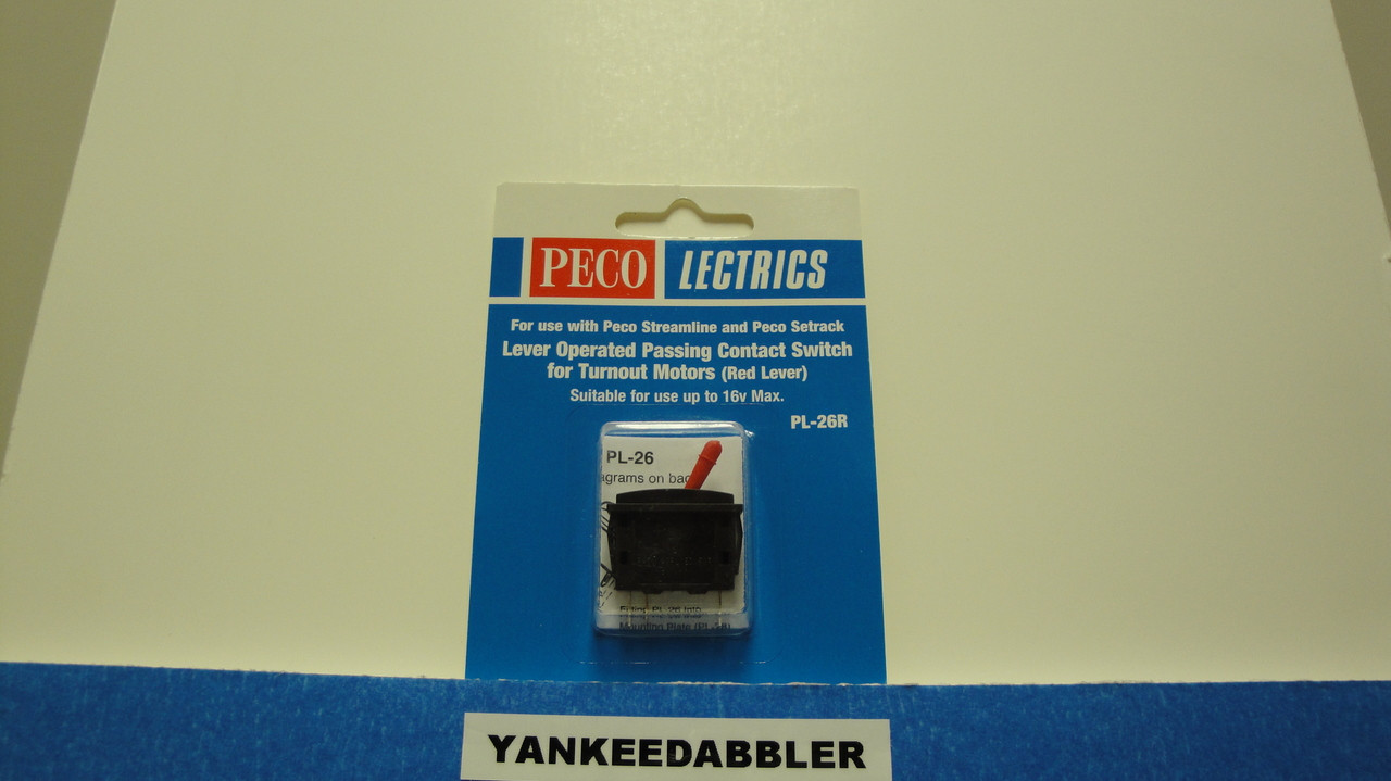 PL-26R Peco / PL-26R Passing Contact Toggle Switch for Twin Coil Switch Machines    Red (SCALE=ALL ) Part # PCO-PL-26R
