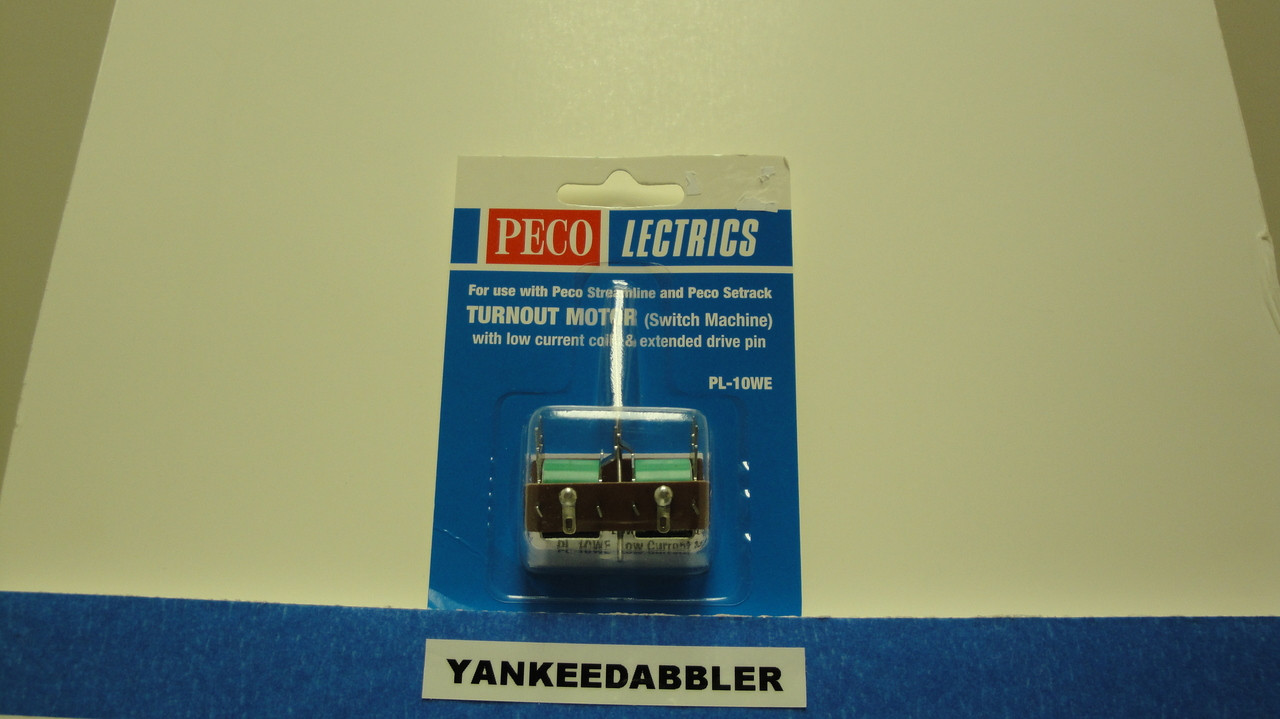 PL-10WE Peco / PL-10WE Twin Coil Switch Machine    Extended Pin    Low Current (SCALE=HO ) P Part # PCO-PL-10WE