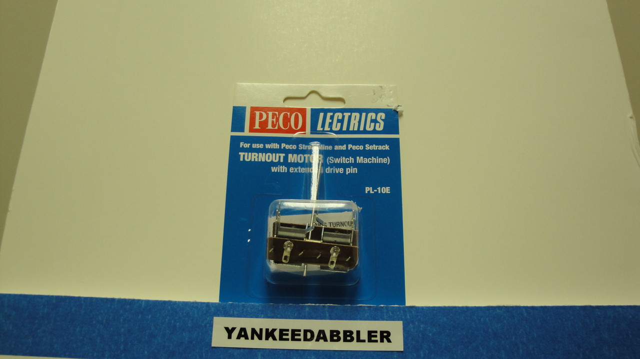 PL-10E Peco / PL-10E Twin Coil Switch Machine    Extended Pin    Standard Current (SCALE=ALL ) Part # PCO-PL-10E