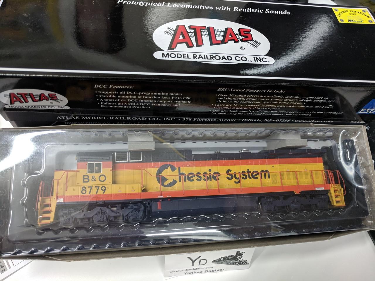 ATLAS 10002293 / Atlas Model Railroad Co. GE Dash 8-40CW #8779 Chessie System(B&O) w/LokSound & DCC - Master(R) Gold (SCALE=HO Part # 150-10002293