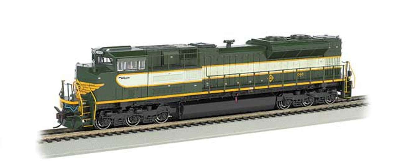 Bachmann 66002 / EMD SD70ACe - Sound & DCC - Heritage Edition -- Norfolk Southern #1068 (Erie Heritage Scheme, 2-Tone Green) HO Scale Part #  =     160-66002