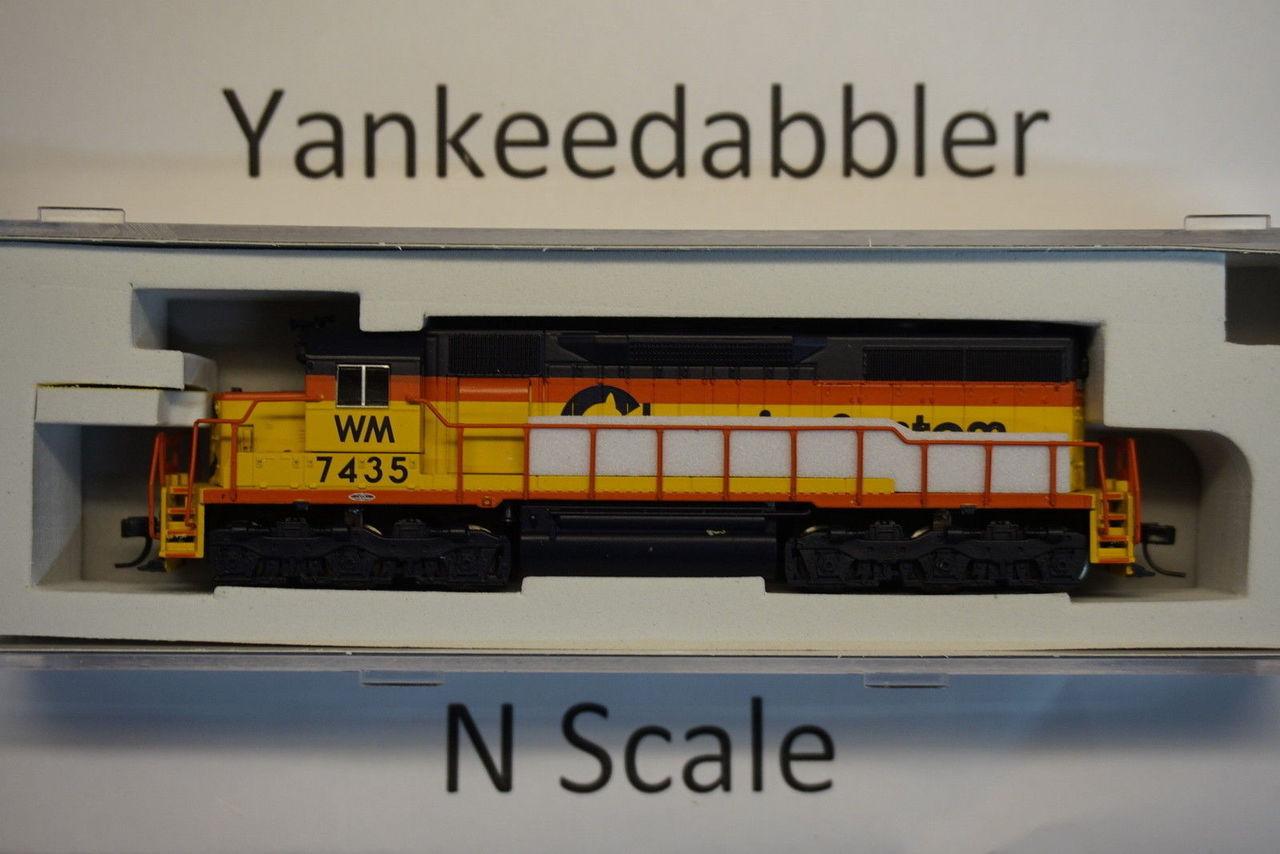 ATLAS 40003740 / EMD SD35 Low Nose - LokSound & DCC - Master(R) Gold -- Chessie WM  #7435 (yellow, blue)  Atlas Model Railroad Co.  - (SCALE=N) Part # 750-40003740
